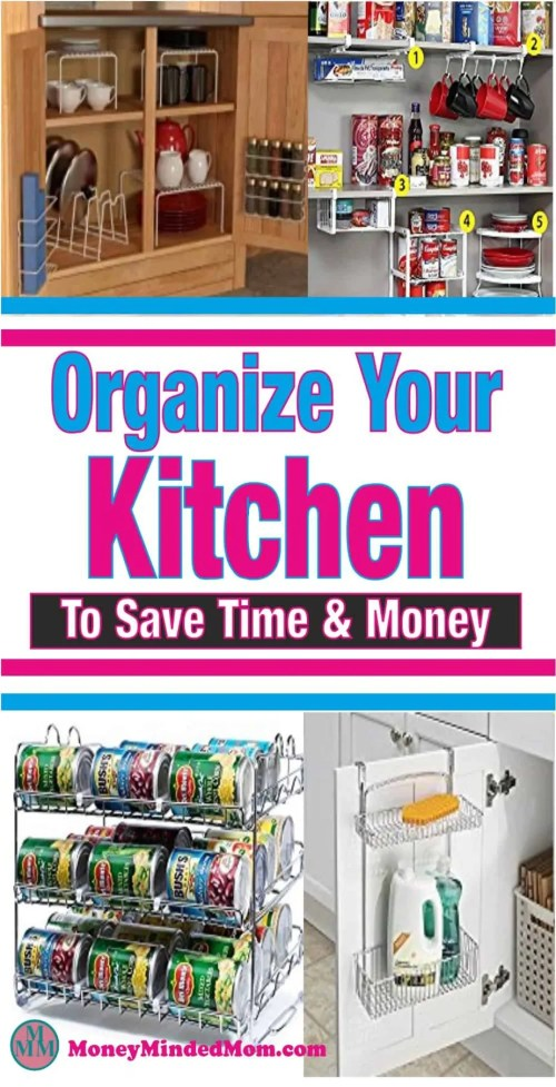Get Organized In Your Kitchen ~ Getting organized in the kitchen is really a necessity if you are to work efficiently and quickly. Plus it saves money too. No one wants to spend precious family time cooking and cleaning or trying to figure out night after night what's for dinner.  Organize | organize | kitchen | diy organize | how to organize | organize drawers | organize cabinets | organize pantry #organize #organization #organizekitchen