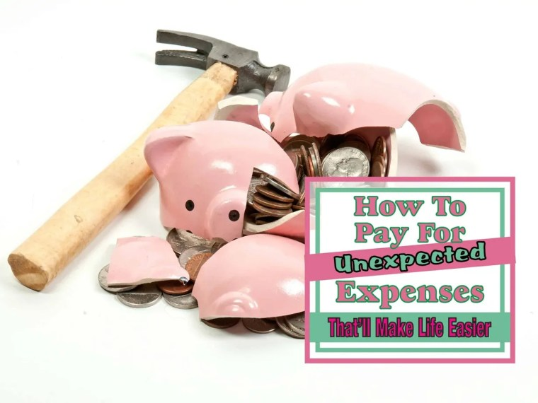 How to Pay For Unexpected Expense ~ Unexpected expenses always seem to happen when you least expect them to and always create a financial burden at the worst times. Read on to see how to pay for unexpected expenses that will make life easier. emergency savings | saving money | money saving tips | money tips | how to save money | frugal living | frugal living tips #emergencyfund #savingmoney #emergencysavings #finance