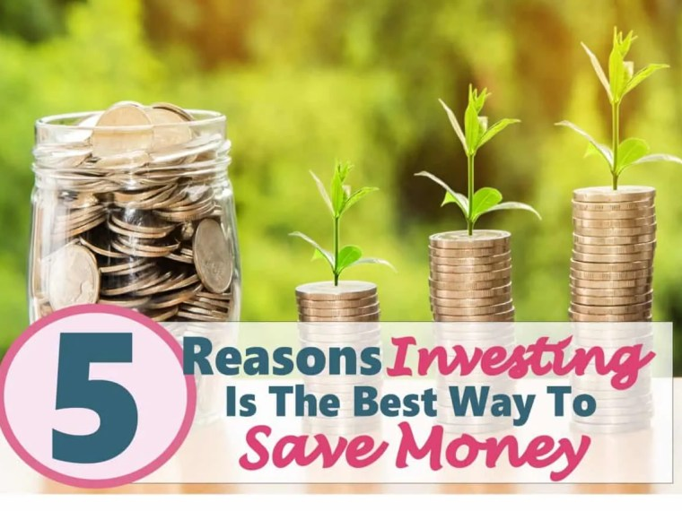 5 Reasons Investing Is The Best Way To Save Money ~ Investing means making future decisions and priorities about your money, which is what saving money is all about too. Why not invest your money to grow your savings faster. Click on over to read more. investing | saving money | money | savings | save money | investments