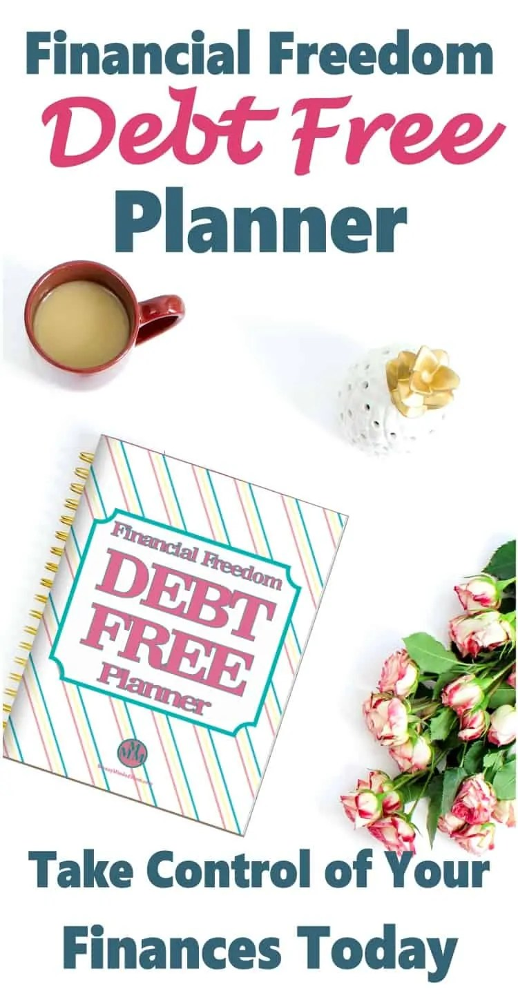 Financial Freedom Debt Free Planner ~ This planner has everything you need to get out of debt & take control of your finances and your life.