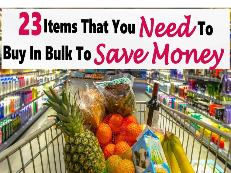 Buying items in bulk is a great way to save money, the price per unit is so much less and you are not paying for packaging that just ends up in the trash anyways. saving money | saving | grocery savings | food savings #money #moneysaving #grocerysaving #mealplanning