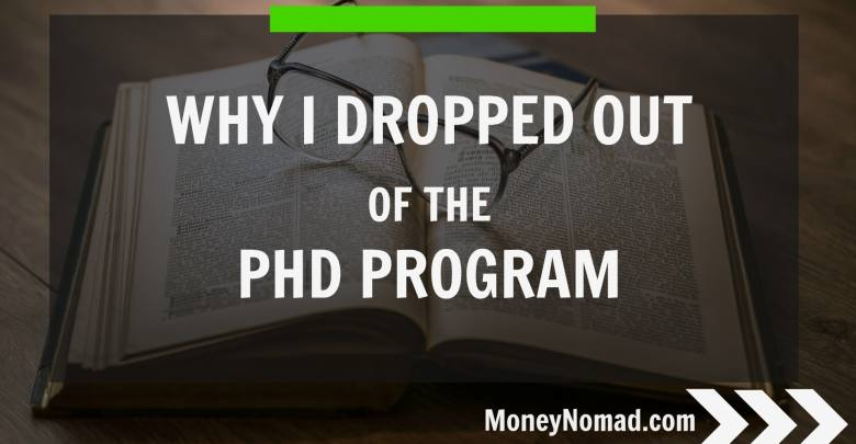 Why I dropped out of the PhD program