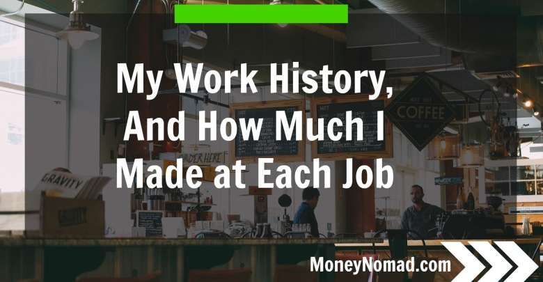 My Work History, and How Much I Made at Each Job