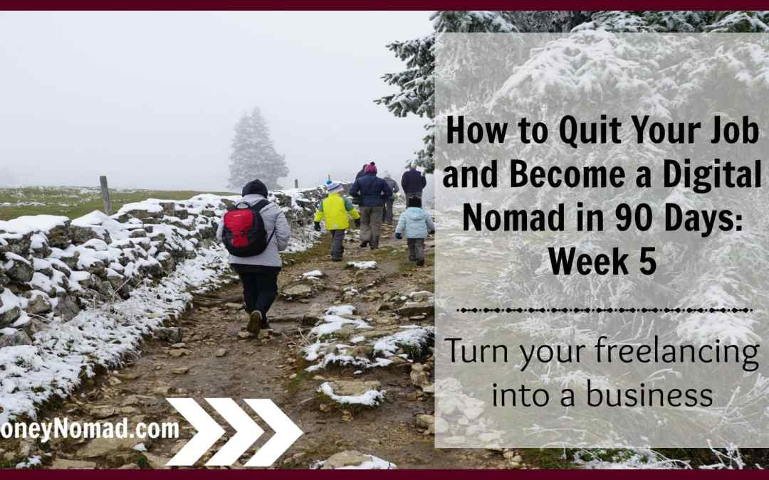 How to Establish Your Freelancing as a Business: Week 5 of How to Quit Your Job and Become a Digital Nomad in 90 Days