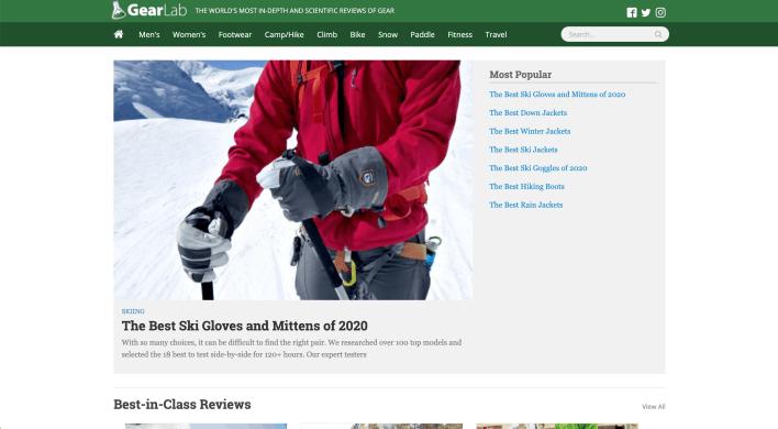 Gear Lab Niche Website