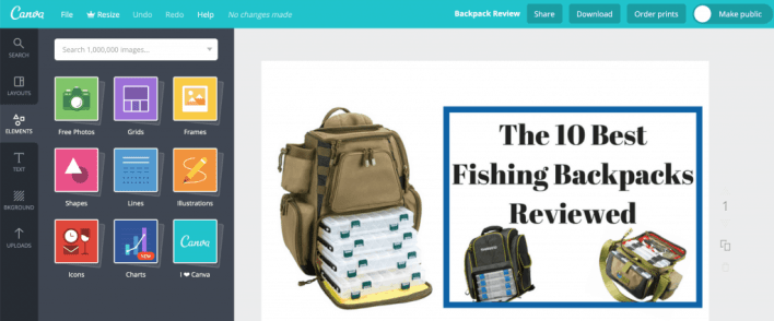 Niche Website Graphics Example