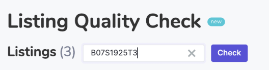 Check Amazon listing quality