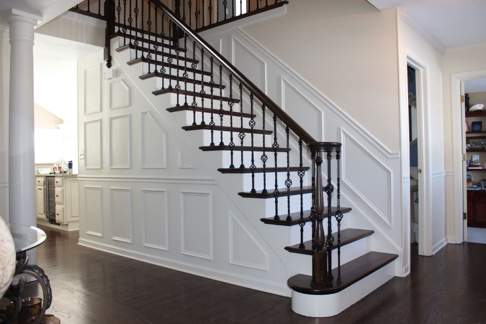 How To Tile Stair Risers The Money Pit | Tile Risers On Wood Stairs | Stair Tread | Decorative | Wood Finish | Stair Outdoors | Wooden