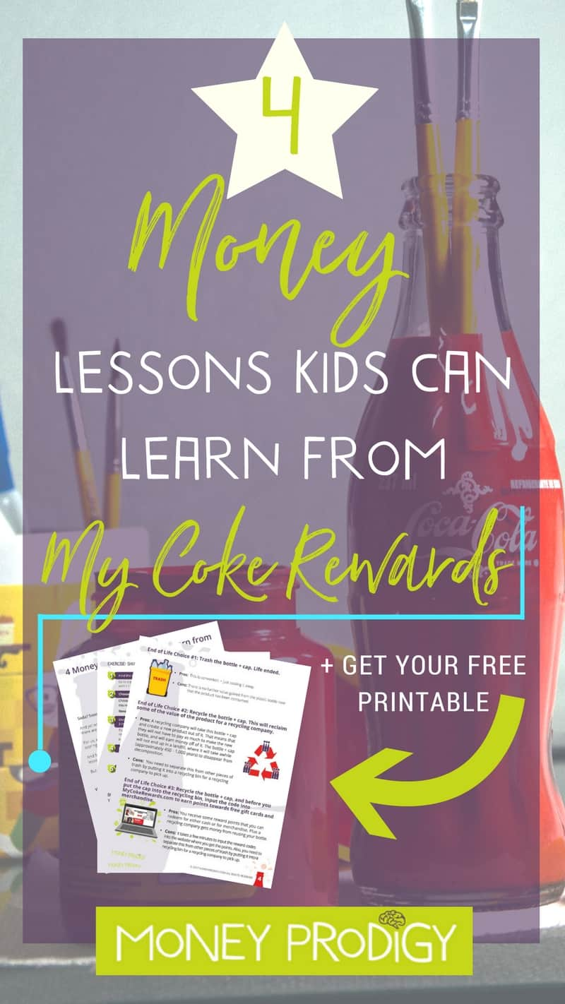 How to teach kids about money  + a few money life skills using the My Coke Rewards program. Don't worry, you don't have to increase your kid's soda intake to take advantage of these tips! | http://www.moneyprodigy.com/how-to-teach-kids-about-money-coke-rewards/