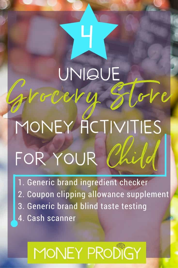 4 Grocery Store Games for kids that don't involve weighing vegetables. Trust me, you'll WANT your child to learn these money life skills using these ideas! |  https://www.moneyprodigy.com/4-unique-grocery-store-games-kids/
