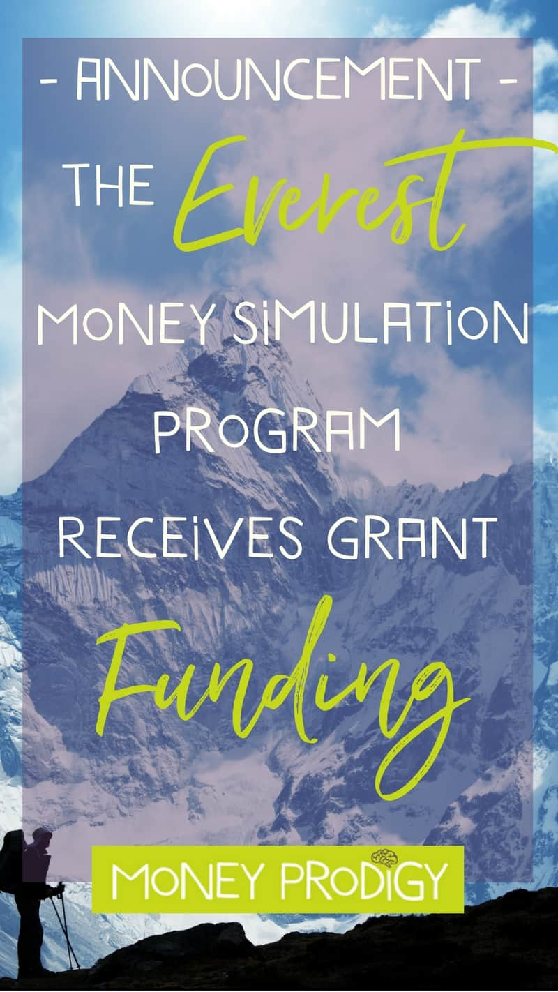 Wondering how to teach kids about money? We're creating the Mt. Everest Money Simulation Program & just received funding from The PLUTUS Foundation. Come learn more with this fun Everest for Kids program (not-VBS). | http://www.moneyprodigy.com/announcement-grant-everest-simulation/