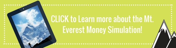 Teach children to save through the Mt. Everest Money Simulation Program.