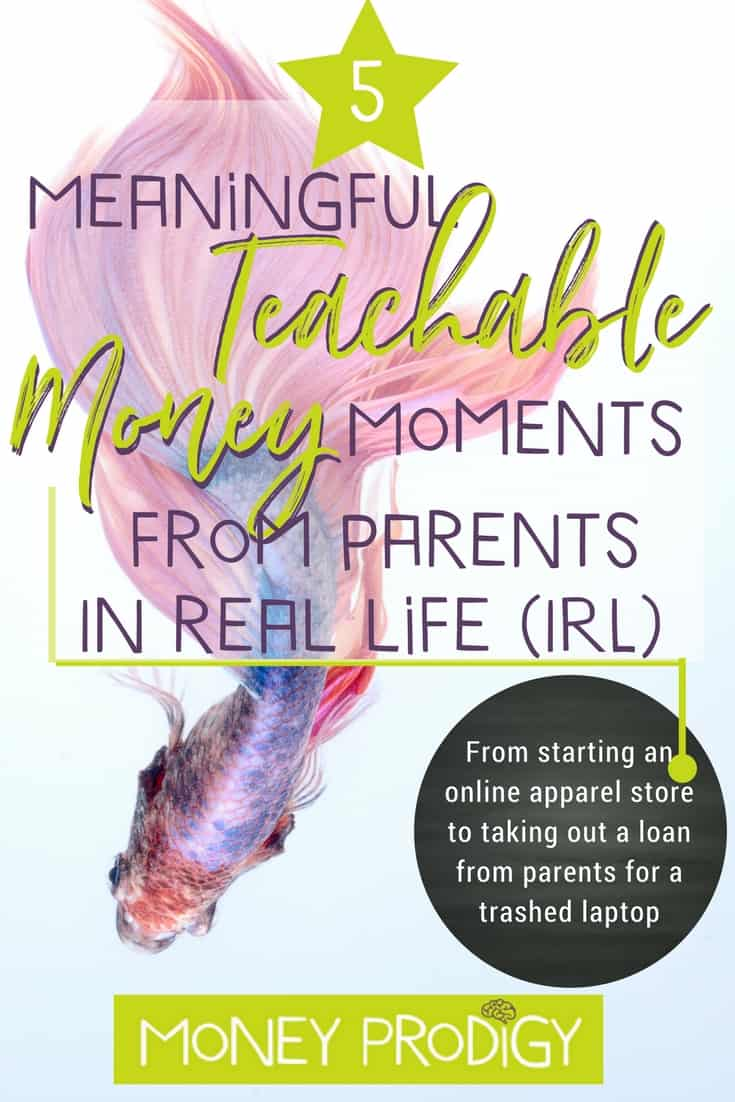 Teachable Moments about money for kids always seem to pop up and fade away before I figure out what to say to help my kids' learning about money. I love how she gives 5 real examples of actual parents, the teachable moments about money that popped up in their lives, and what they said. #teachablemoments #learning #quotes #kids | https://www.moneyprodigy.com/5-teachable-moment-money/