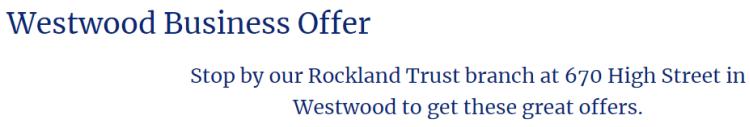 Rockland Trust Bank Business $250 Bonus