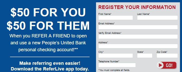 Peoples United Bank $500 Bonus