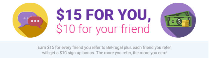 BeFrugal Cash Back Bonus