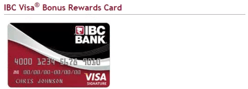 IBC Visa Bonus Rewards Card