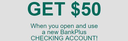 $50 bonus offer from BankPlus