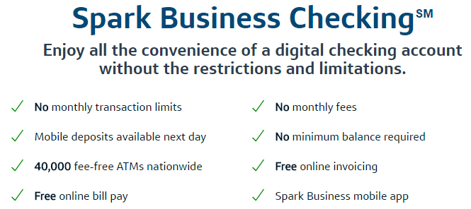 Spark Business Checking Features