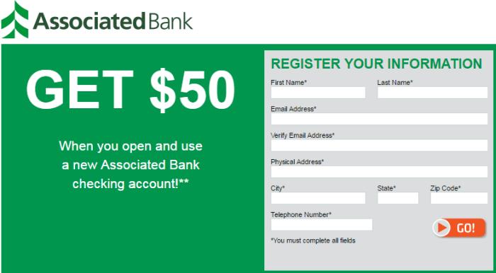 Associated Bank $50 Sign Up Bonus