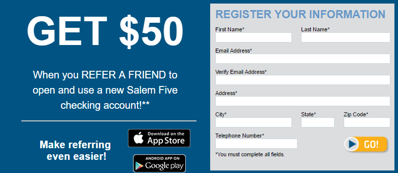 Salem Five $50 Bonus