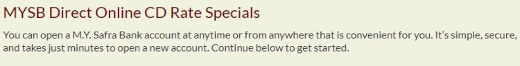 MYSB Direct Online CD Offers