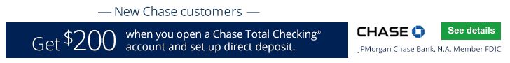 Chase Total Checking $200 Bonus