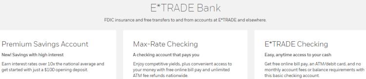 ETrade Bank Account Types