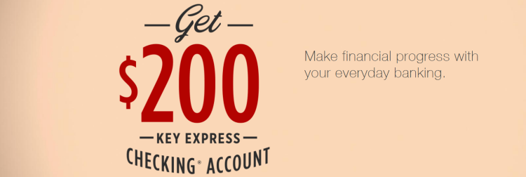 KeyBank $200 Key Express Checking Bonus
