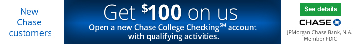 Chase College Checking $100 Bonus