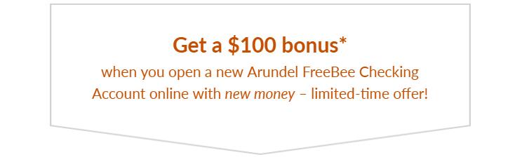 Arundel Federal Savings Bank $100 Bonus
