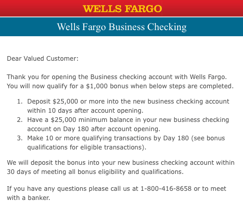 Wells Fargo Promotions: $150, $250, $400, $500, $650, $1000 Checking