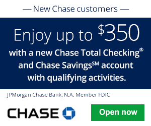 Chase Total Checking And Savings $350 Bonus 2
