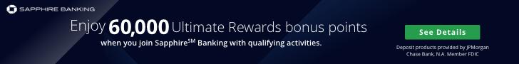 Sapphire Checking 60000 Bonus Points Offer