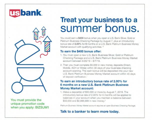 US Bank Promotions: $200/$300/$400 Checking Account Bonuses