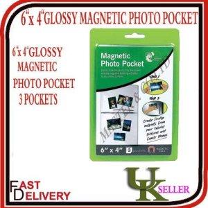 Lot de 3 pochettes à photo aimantées pour le frigo 10 x 15 cm
