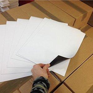 A4 blanc Effaçables à sec tableau blanc magnétique Memo Magnet Frigo Note Big Flexible