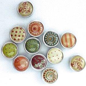 12 mini magnets époxy - Ø12mm - Automne - Graines créatives