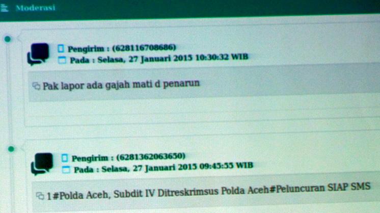 Kejahatan lingkungan dan sumber daya alam yang terjadi di Aceh, kini dapat dilaporkan ke Polda Aceh lewat sms. Foto: Chik Rini