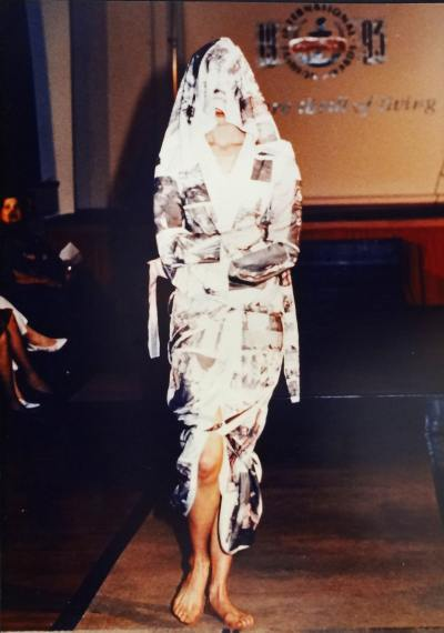 Canadian winner of the Smirnoff International Fashion Awards 1993