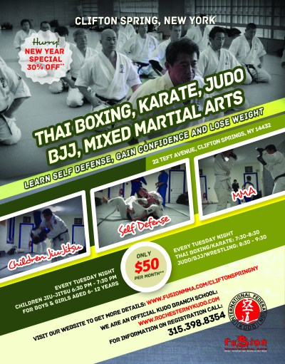 Fusion Mixed Martial Arts Clifton Spring Location Flyer