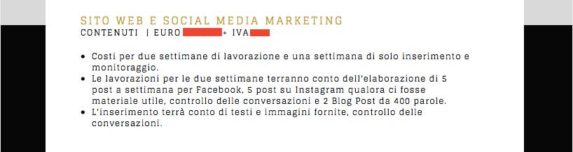 preventivo per il digital marketing