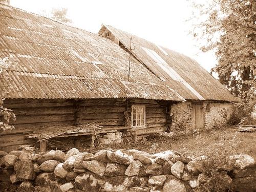 Perekond Bergide elumaja Naissaar 1897.a