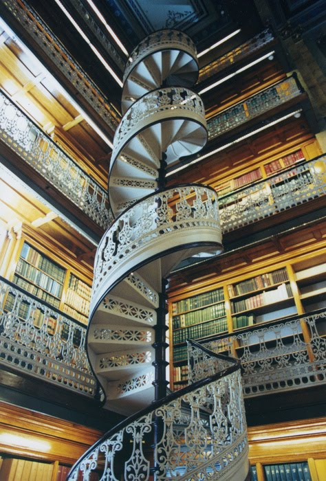 Spiral Staircase, Capitol Library, Des Moines, Iowa