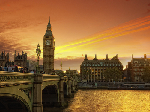 Orange Sunset, London, England