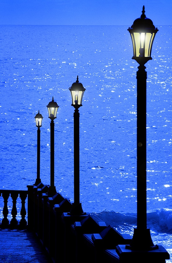 Silhouettes in Blue, Canary Islands, Spain