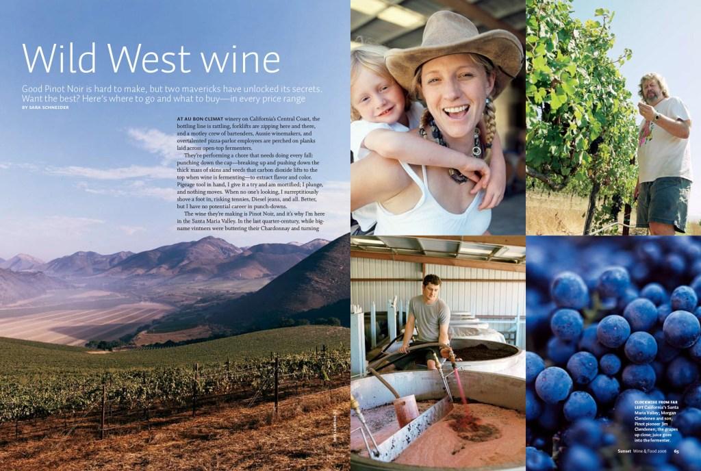 Wild West Wine spread