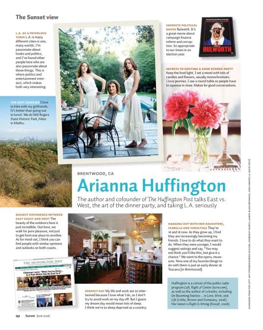 Arianna Huffington page