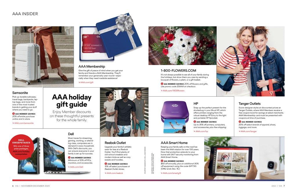 Insider gift guide spread