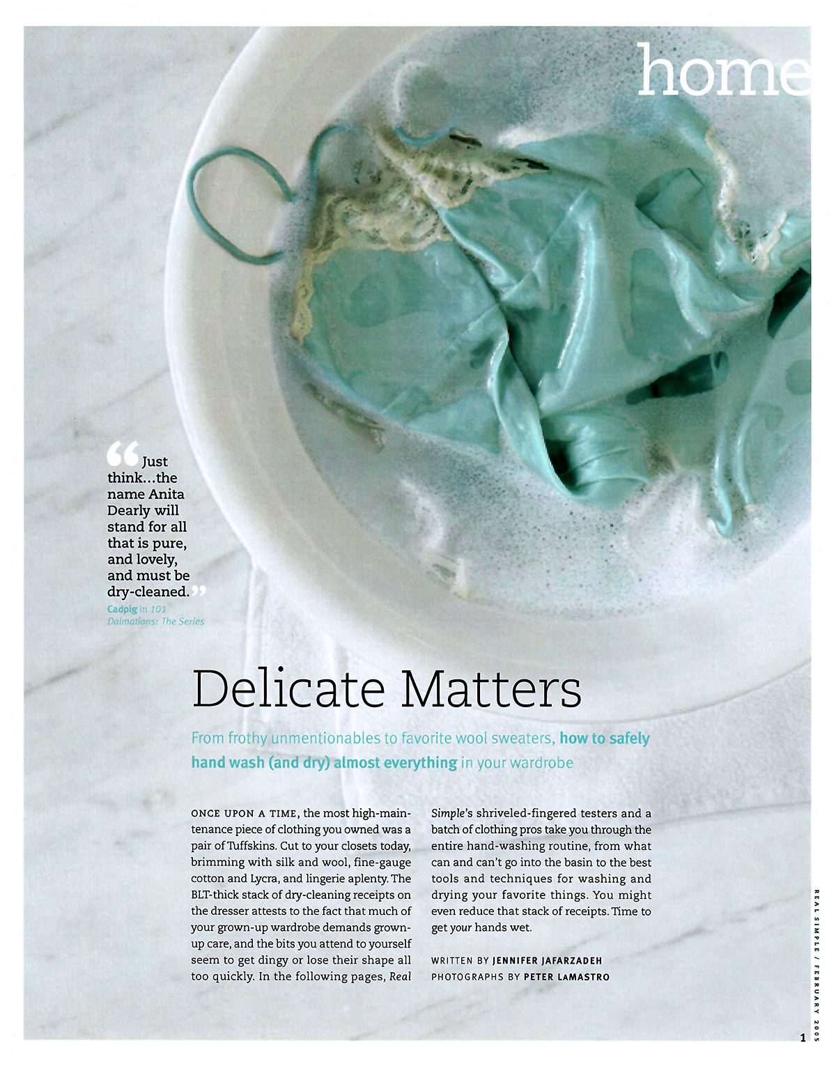 Delicate Matters page